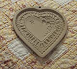 1990 Brown Bag Cookie Art Heart Mold - Bee Strawberry