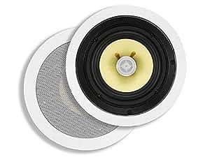 Monoprice Caliber in-Ceiling Speakers, 6.5in Fiber 2-Way (Pair)