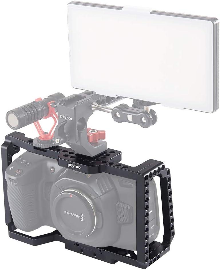 Camera 6K Poyinco BMPCC 4K 6k Camera Cage for Blackmagic Pocket Cinema Camera 4K
