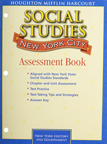 Houghton Mifflin Social Studies New York: Test Prep And Assessment Blm And Answer Key Level 4