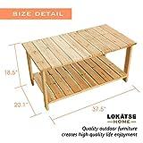 LOKATSE HOME Outdoor Coffee Table Natural Wood