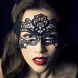Dentelle pour femme masque vénitien sexy Masque Carnaval masque visage masque visage (#1 Black)