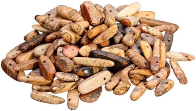 EXCEART Cuentas de Piedra Natural Chips Piedras Trituradas Irregulares Espaciador Cuentas Sueltas para Collar Pulsera Joyería Fabricación Diy Artesanía 40 Cm