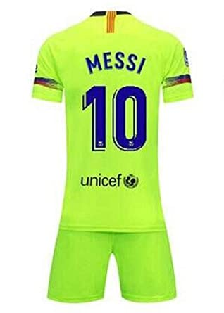 9091581ff2c Lakivde Kids Messi New Away Jerseys 18-19 Barcelona  10 Football Jersey  Soccer Jersey
