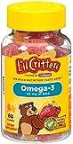 L'il Critters Omega-3 维生素软糖鱼,60 只装,3包(包装可能不同)