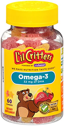 Lil Critters Omega-3 Vitamin Gummy Fish, 60 Count, Pack of 3 (Packaging May Vary)