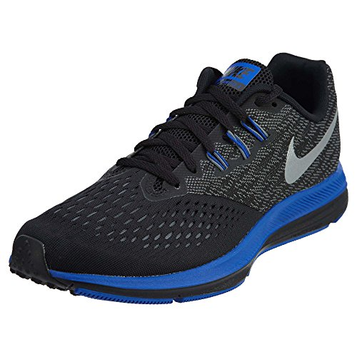 Nike Zoom Winflo 4 Mens Running Trainers 898466 Sneakers Shoes (UK 6 US 7 EU 40, Black Metallic Silver 009) (Nike Zoom Kobe 6)