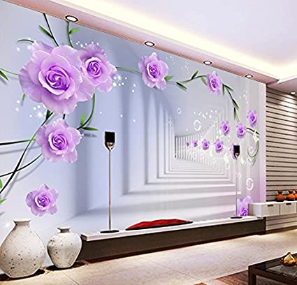 BBSLT Tessuto-non-carta da parati camera da letto 3D rose fiori ...