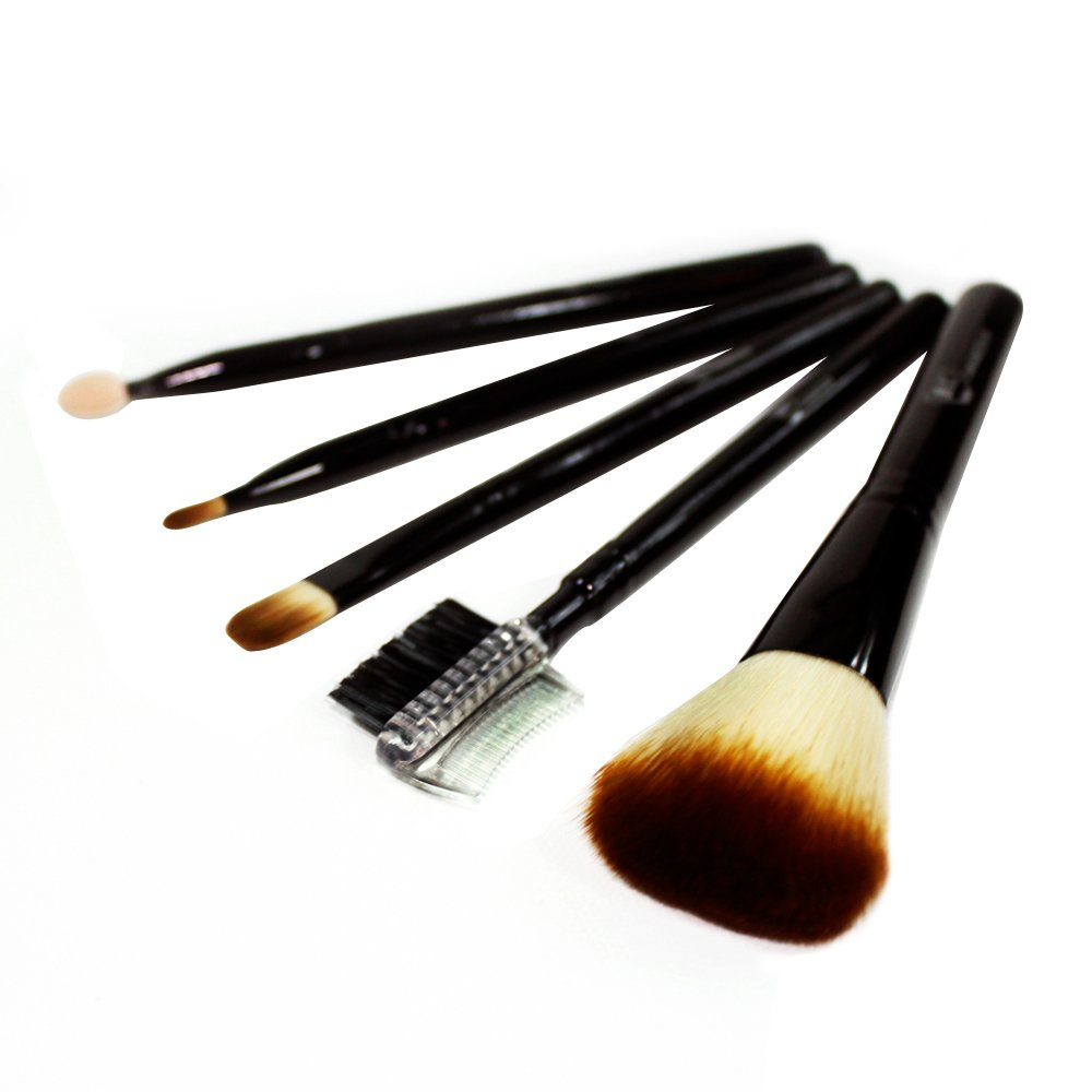 Royal Care Cosmetics Vanilla Bean 5-Piece Travel Makeup Brush Set From Royal Care Cosmetics