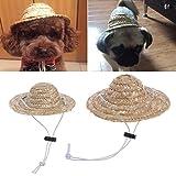 Amrka Hawaiian Style Pet Sombrero Hat for Dog Cat Diameter 14cm/5.51'' 16cm/6.30'' (S)