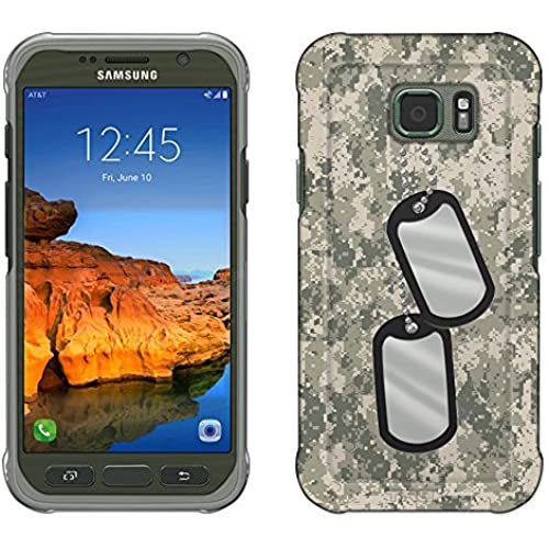 Samsung Galaxy S7 Active Case, Snap On Cover by Trek Nameplate on Digital Tan Camouflage Slim Case Sales