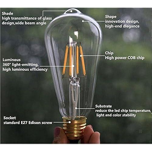 Lussuoso Lighting 12 Watt Edison Style Vintage Led