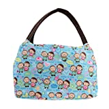 Greenery Luxury Oxford Waterproof Reusable Zipper Lunch Box Organizer Tote Handbag Meal Bag for Outdoor Travel Camping Picnic Barbecue Office Work School (Baby kids)
