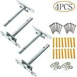 Tang Song 4PCS Adjustable Blind Shelf Floating Support Invisible Brackets with Screws, Concealed Mount for Home Wall DIY, Silver
