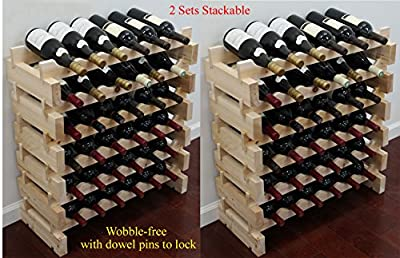 Stackable Storage Wine Rack Stand, Wobble-Free,