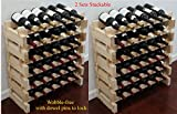 Stackable Storage Wine Rack Stand, Wobble-Free, 72 Bottle Capacity, 6 X 12 Row
