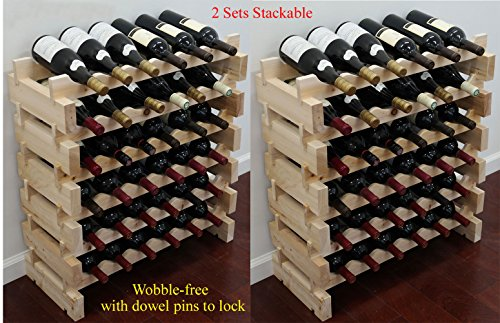 Stackable Storage Wine Rack Stand, Wobble-Free, Stackable Storage Wine Rack Stand, Wobble-Free, 72 Bottle Capacity, 6 X 12 Row) by DisplayGifts