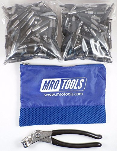 450 5/32 Cleco Sheet Metal Fasteners + Cleco Pliers w/Carry Bag (K1S450-5/32) by MRO Tools Cleco Fasteners