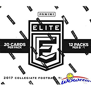 2017 Panini Elite Draft Picks NFL Football EXCLUSIVE Factory Sealed MASSIVE JUMBO FAT Pack Box with FOUR(4) AUTOGRAPHS! Look for RCs & Autographs of Patrick Mahomes, Deshaun Watson & More! WOWZZER!