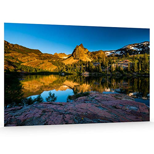 - Utah Nature Photography 12x18 Inch Unframed Nature Poster Print The Shores Lake Blanche at Sunset