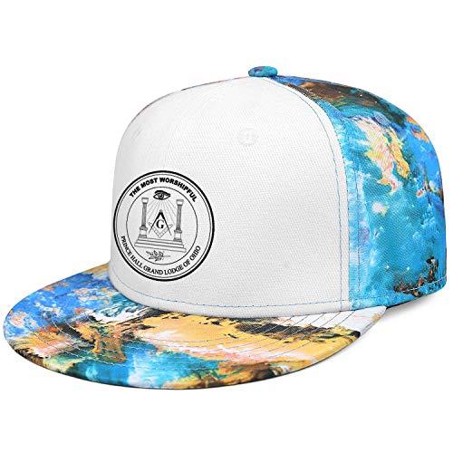 WJINX Prince Hall Grand Lodge of Ohio Unisex Novelty Flat Brim Baseball Caps Sun Protection Adjustable Trucker Hat