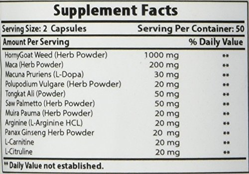 BEST NATURALS Strong Libido 100 Capsules, 0.02 Pound by Best Naturals (Image #2)