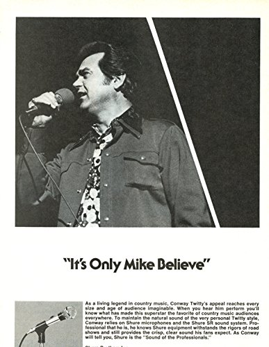Conway Twitty Vintage ad original 1pg 8x10 clipping magazine photo #S0984