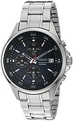 Seiko Men's Quartz Stainless Steel Dress Watch, Color:Silver-Toned (Model: SKS475)