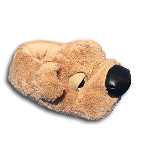 EKNA ® Hunde Hausschuhe - kuschelig, flauschig, weiche Puschen - Plüsch Pantoffeln Gr. 36-44 - für Jungen und Mädchen - Die Geschenkidee!