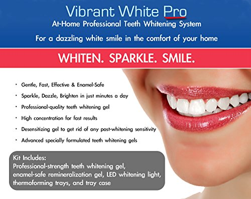 (Vibrant White Pro Teeth Whitening System Carbamide Peroxide Gel Applicator Kit By Dentalogica)