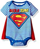 Warner Brothers Baby Boys' Superman Creeper With Cape, Blue, 6/9m