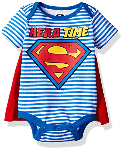 Warner Brothers Baby Boys' Superman Creeper With Cape, Blue, 0/3m