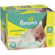 Pampers Swaddlers Disposable Diapers Size Newborn, 120 Count
