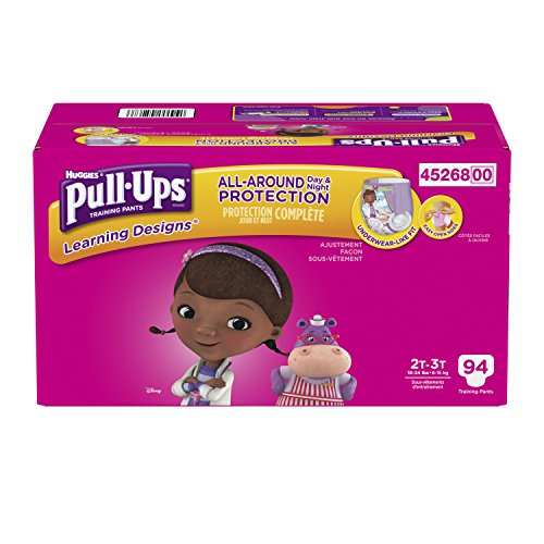 Pull-Ups Learning Designs Training Pants for Girls, 2T-3T, 94 Count