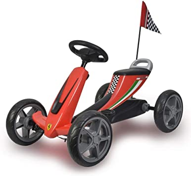 Ferrari Licensed Kids Pedal Go Kart Red Amazon De Spielzeug