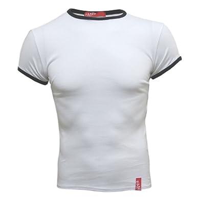 9047b177212a Fans London - T-shirt moulant pour homme - 100% coton - blanc noir ...