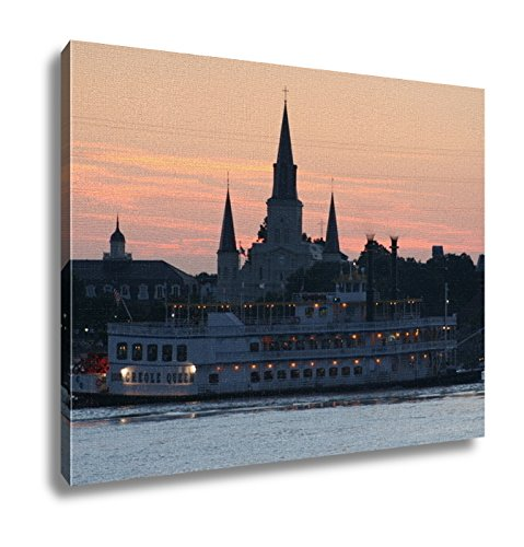 Ashley Canvas, New Orleans Steamboat And Cathedral, 24x30