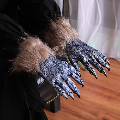 Coohole Halloween Masquerade Party Werewolf Hands Adult Gloves