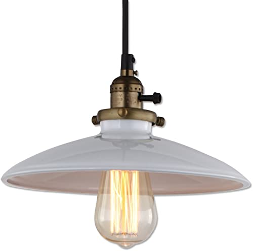 JEMMY HO Loft Vintage Pendant Lights Industrial Style Edison Pendant Lamp White