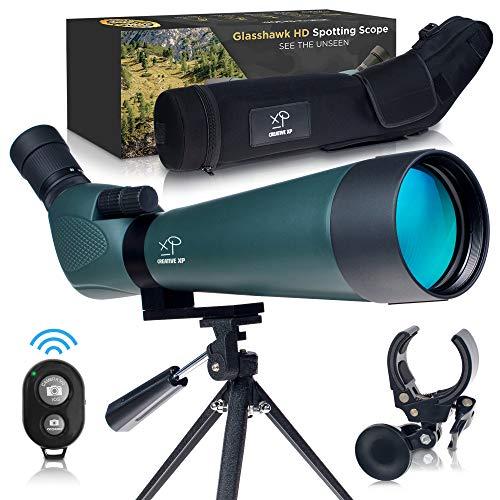 CreativeXP HD Spotting Scope with Tripod 20-60x80mm - BAK-4 Prism Spotting Scopes for Target...