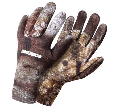 OMER 2mm Camu 3D Camouflage Spearfishing Gloves (LG)
