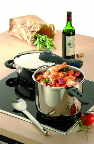 WMF Perfect Plus 6-1/2-liter and 3-liter Stainless-Steel Pressure Cookers with Interchangeable Locking Lid by WMF (Image #1)