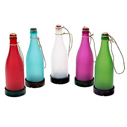 Solar Colgante De Luz para,Plástico con Cuerda De Cáñamo con Botella Lámpara De Luz