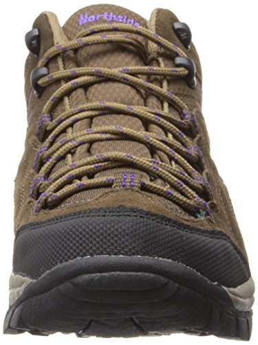 Purple Brown Leather Pioneer Rise Dark Medium Boot Hiking Womens Northside Mid qBxwASB