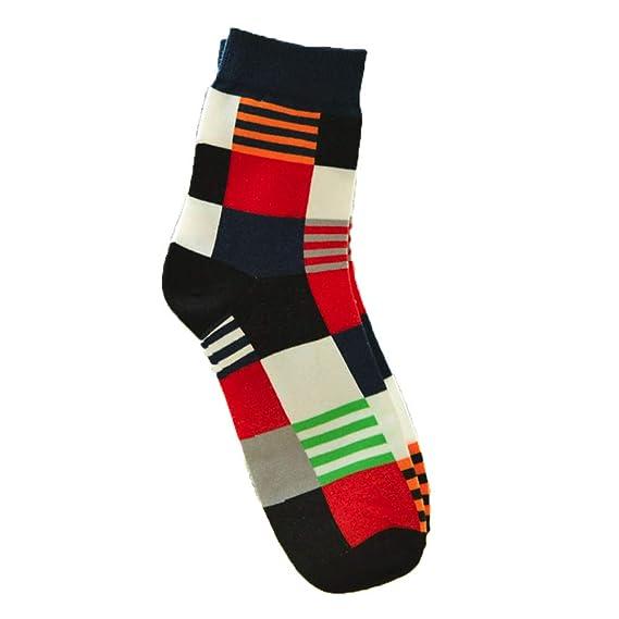 OVINEE Color de los hombres en los calcetines de tubo, Calcetines Estampados ,calcetines cortos