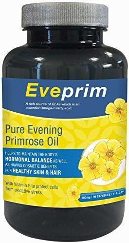 eveprim Puro Aceite de Onagra 500mg-90 cápsulas: Amazon.es: Salud y cuidado personal