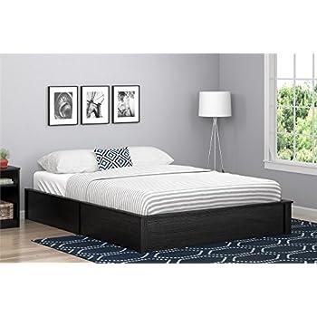 ameriwood home 5961325com slim and modern platform bed queen black oak