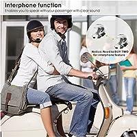 [2018] Avantree WATERPROOF Motorcycle Helmet Bluetooth Headset Intercom with CLEAR Mic, Wireless Headphones Interphones for Rider, Support Phone Call, GPS (TOMTOM Navigation), Music [2-Year Warranty] from Avantree