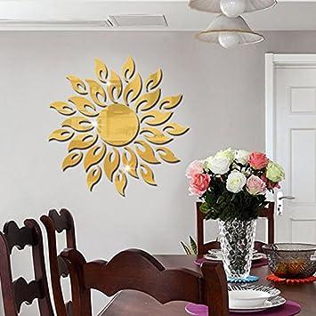 Jintie COOWOO Custom 3D Aus Massivem Acryl Spiegel Wand Dekoration Einfache  Wohnzimmer Büro Sonnenbrille, Goldene