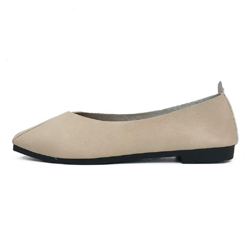 Qiusa Saure Toe Ballerines Femmes Taille Confort Chaussures Décontractées Femmes (coloré Beige : Beige, Taille : EU 38) Beige d99c561 - automaticcouplings.space